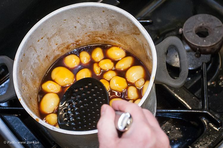 Potatis i socker.